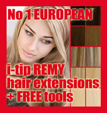 Micro Bead EUROPEAN HUMAN HAIR EXTENSIONS! ALL COLOURS+ FREE MASK! Top Quality