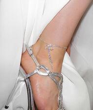Rhinestone Crystal Anklet Bracelet Accent Bow