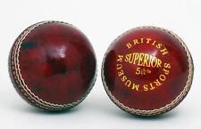 NEW Stunning Red British Sports Museum 5 1/2oz Cricket Ball (CB01R)
