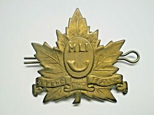 CANADIAN 1920-1952 PERIOD WWII MIDDLESEX LIGHT INFANTRY CAP BADGE & PIN