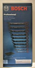 Bosch Professional PRO 10-Part Spanner Set with Ratchet Function - size 8mm-19mm