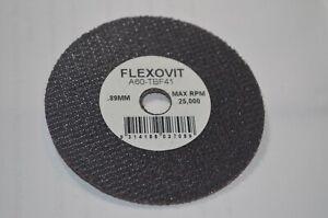 FLEXOVIT CUT OFF WHEEL A60 - TBF41, 3 INCH, USA