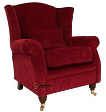 Ashley Fireside High Back Wing Armchair Pimlico Wine Fabric