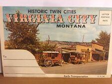 Historic Twin Cities Nevada City, Virginia City, Montana Post Card Booklet, 1963