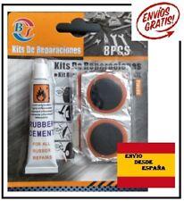 Kit de reparaciones Pinchazos Rueda Bicicleta, moto, Bici, Colchoneta. Parches