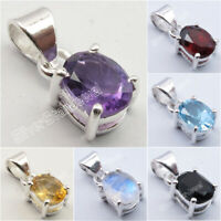 925 Sterling Silver Lightweight 4 Prong Pendant ! Highly Polished Stone Jewelry
