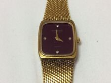 RAYMOND WEIL 18K Gold Electroplated Unisex Diamond Watch Brown Dial Mesh Band