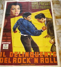 Elvis JAILHOUSE ROCK Italy only 4-sh MOVIE POSTER 200x140 1st edit. 1958