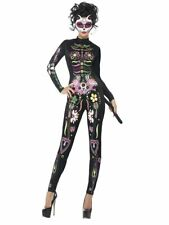 Smiffys Sugar Skull Cat Day of the Dead Adult Womens Halloween Costume 43735