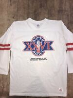 Vtg Super Bowl XXVI Metrodome Minneapolis 1992 Raglan T-Shirt Sz XL