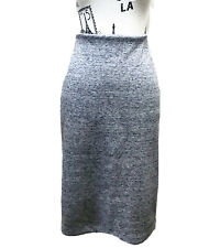 H&M Women's Midi Pencil Skirt Tweed Grey Beige S