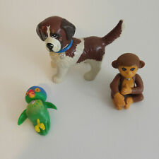 1990s Littlest Pet Shop St Bernard Dog Monkey Parrot LPS