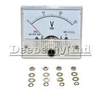 Professional DC 0-30V Analog Volt Voltage Panel Meter Voltmeter Gauge 85C1 0-30V