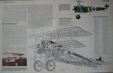 Encyclopedia of Aircraft magazine Issue 14 Fokker Dr.I Triplane Cutaway drawaing
