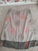 Ladies Monsoon Summer Skirt Size 12 Embroidered Detailing