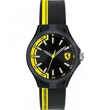 Ferrari Scuderia Rubber Mens Watch 0840012, Silicone, Yellow and Black Strap