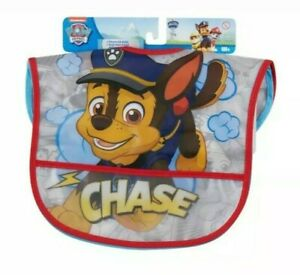 NICKELODEON PAW PATROL 2 PACK TODDLER BIBS 6MONTHS & UP. CHASE & MARSHALL. NEW