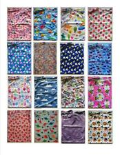 1 x Large Waterproof Kids Wet Bag 30cm x 40cm for Cloth Nappies, Books, Swimmers