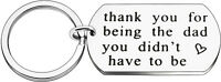 Fathers Day Gifts Key Chain Men for Dad Papa from Daughter Son Thank you for to