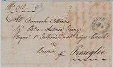 ITALIA REGNO:  storia postale - BUSTA / LETTERA : BERGAMO con annullo BLUE 1848