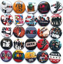 INXS Button Badges Pins Need You Tonight Mystify Beautiful Girl Kick Lot of 25