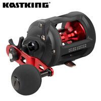 KastKing ReKon Level Wind Trolling FreshwaterFishing Reel, 30lb Carbon Disc Drag