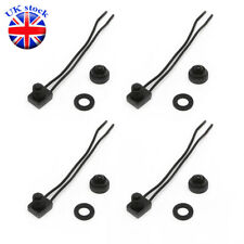 """4PCS 12V Waterproof Push Button On-Off Switch With 4"""" Lead Wire Black"""