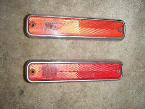 1971-1974 AMC Javelin AMX Side Fender Marker Light Pair 71 72 73 74 OEM Used