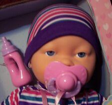 My Sweet Love 3 piece Interactive Baby Doll Sucks Pacifier Baby Sounds NIB
