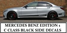 AMG C63 Edition 1 Side Stripe Black Decals Stickers - Mercedes Benz C Class W205
