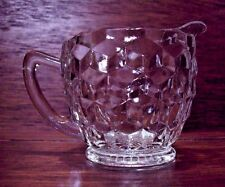 Mid Century Vintage CLEAR Indiana or Jeannette Glass Creamer  PERFECT
