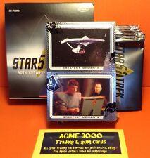 Rittenhouse - Star Trek 50th Anniversary Full 100 Card Set + Box & 14 Empty Pack