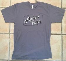 Aphex Twin Cheetah Grey T-Shirt L Official Merch Logo Rare Warp Rephlex Records