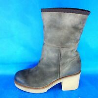 Strategia Damen Schuhe Boots Stiefel Gr 41 Braun Leder Leder Lammfell Np 279 Neu