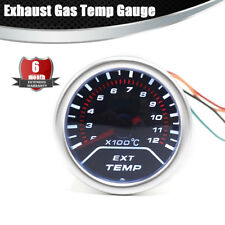 2 Inch EGT Exhaust Gas Temp Gauge Smoke Lens LED Pointer Gauge  racing meter