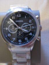 Fossil Herrenuhr Armbanduhr BQ2119 Chronograph Silber