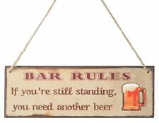 BAR RULES WOODEN SIGN...DISTRESSED FINISH