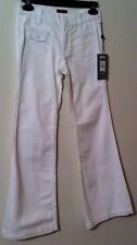 7 For All Mankind Jeans Size 10 White NWT Georgia Washable Cotton Blend Low Rise