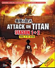 Attack On Titan Season 1 + 2 (Vol. 1-37 End + 6 Special Episodes) + Free Animate