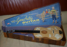 EMENEE  GENE AUTRY  GUITAR  BOXED  C. 1960'S  NO 601  PLASTIC TOY GUITAR WESTERN
