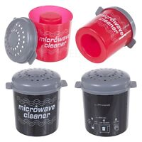 2X Microondas Limpieza Horno Steam Limpiador Desinfectante Cocina Hogar Nuevo