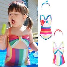 Bambine Bambini Candy a Righe Costume Da Bagno Bikini Vacanze Spiaggia Costume Da Bagno Costume Da Bagno