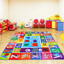 Kids Play Mat Alphabet Abc Numbers Shapes Educational Large Area Rug 4.4' x 3.6'