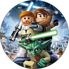 Lego star wars Deco Gateau Disque Azyme Comestible Anniversaire 20cm
