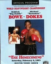1993 Riddick Bowe vs. Michael Dokes - Heavyweight Title Program, EX/NM Con.