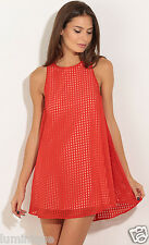 Cute Fully Lined Ribbon Open Back Smock Shift Dress L 14 Picnic Party Lovely Tie