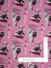 Retro Vintage Ladies Powers Of Wine Cotton Fabric Springs CP61005 By The Yard