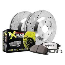 FRONT KIT 2134 2 Platinum Hart *DRILLED /& SLOTTED* Front Disc Brake Rotors
