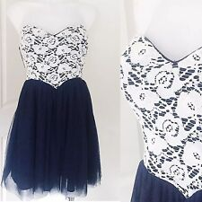 Dotti Dipped Waist Kelly Dress Size 12 Lace Party Cocktail Evening Summer