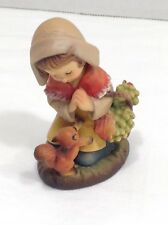 """Anri The Thanksgiving Girl with Fruit Basket & Squirrel Schmid Collection 3"""""""